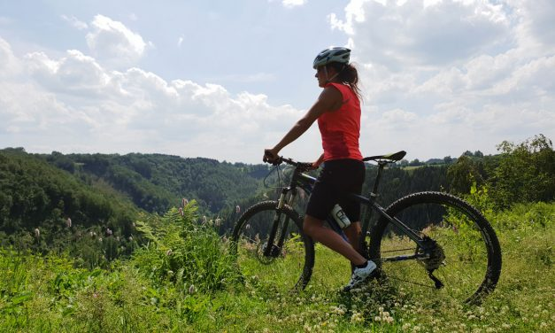Mountain bike trail in the Eastern Townships