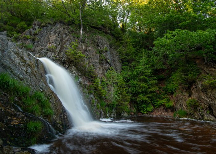Bayehon waterfall in the Ardennes