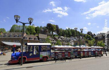 <p>The little train of La Roche</p>-Train touristique to Province of Luxembourg