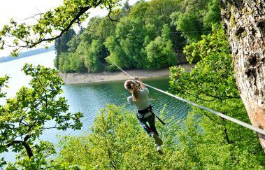 Park Natura at the Eau d'Heure Lakes-Parcours challenge to Province de Hainaut