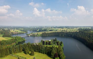Lake and Dam of Robertville-Sports d´eau to Province of Liège