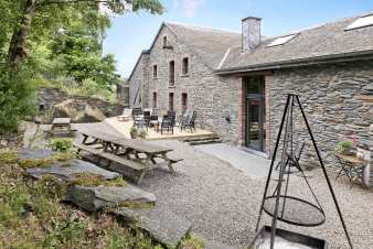 Mill renovated into cosy holiday home for 18 pers. to rent in Bastogne