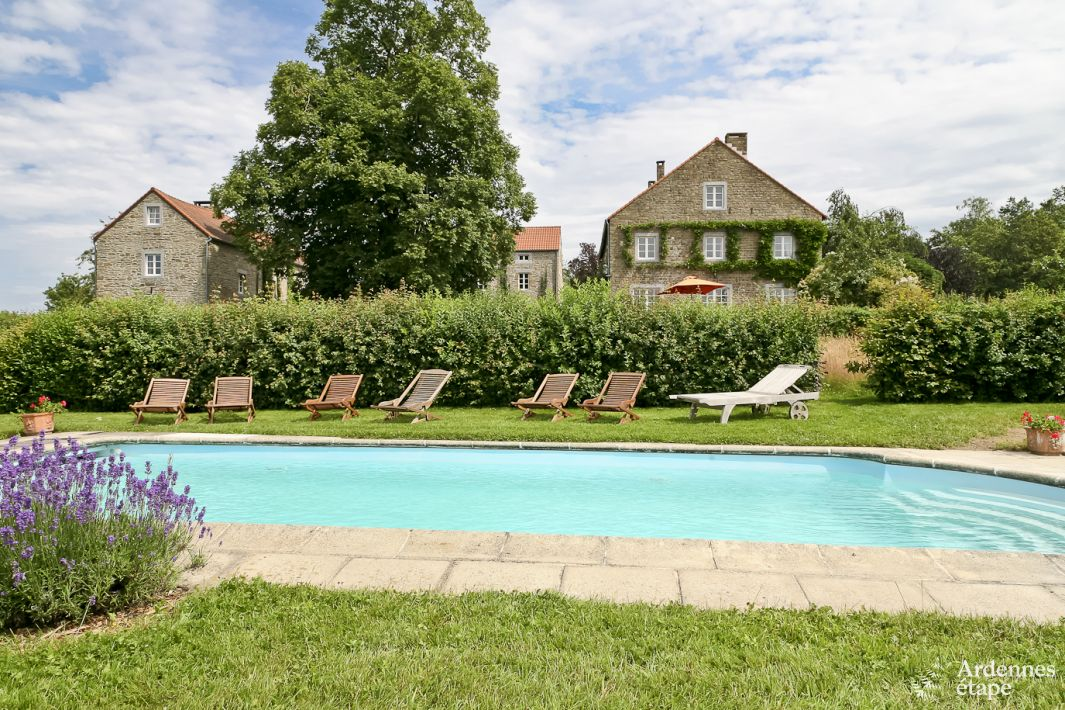 Authentic Holiday House With Pool For 14 Pers To Rent In Dinant