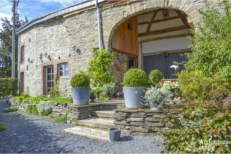 Authentic holiday stonehouse to rent in Gedinne in the Ardennes