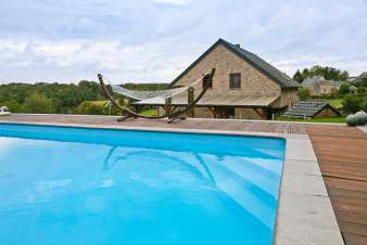 Pleasant holiday villa with heated swimming pool to rent in Hamoir