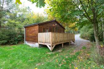 Cosy wooden holiday home located in the Wood of La Roche-en-Ardenne
