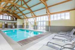 Large rental holiday house with inside pool and games room in La Roche