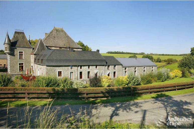 Luxurious holiday home for 34 people in a castle-farm in Sainte-Ode