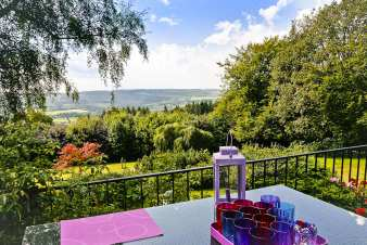 Holiday country house with superb view to rent in Stoumont