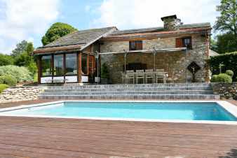 Luxury holiday house with pool and sauna for 9 pers. in Trois-Ponts